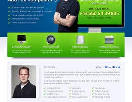 #40 para Design a single Page Website with Logo for a PC repair service por uniqueclick