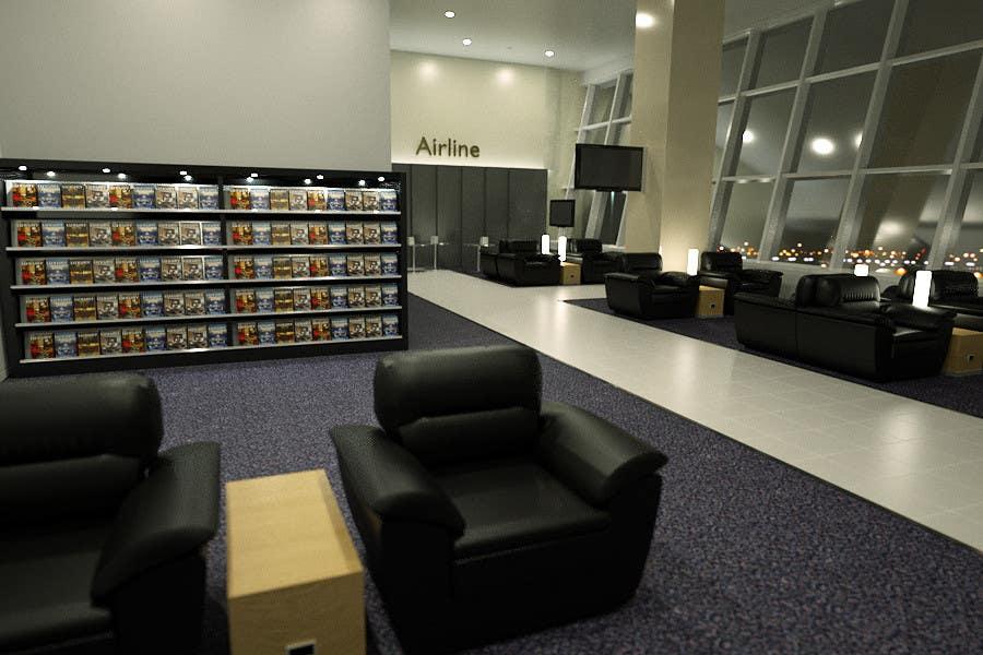 Penyertaan Peraduan #12 untuk CGI Interior Design First Class Airline Lounge