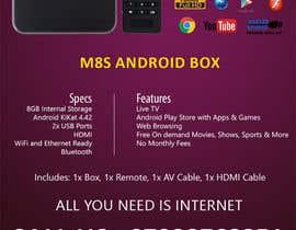 """Nro 3 kilpailuun Design a simple 4"""" x 6"""" Flyer for Android TV Boxes käyttäjältä BeeWorker"""
