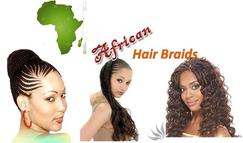Penyertaan Peraduan #1 untuk Design a Small Logo for www.AfricanHairBraids.com.au