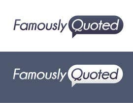 #17 para Design a Logo for Famously Quoted por estebanmuniz