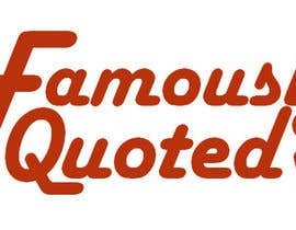 #8 para Design a Logo for Famously Quoted por krokiks
