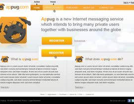 #19 para Website Design for Appug.com, a new online messaging service (generic web page). de tuanrobo