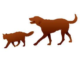 Coper tarafından Illustration of a dog silhouette and a cat silhouette için no 13