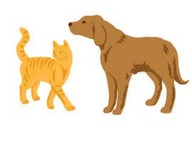 #17 for Illustration of a dog silhouette and a cat silhouette af KirtokaN