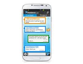 ganadev tarafından Freelancer Messenger Android App Mockup için no 5