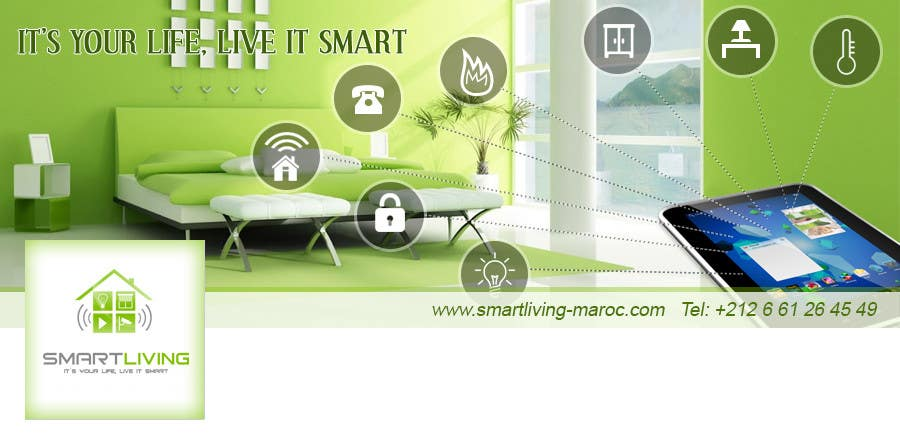 Contest Entry #27 for Design a banner for facebook/Website for home automation company