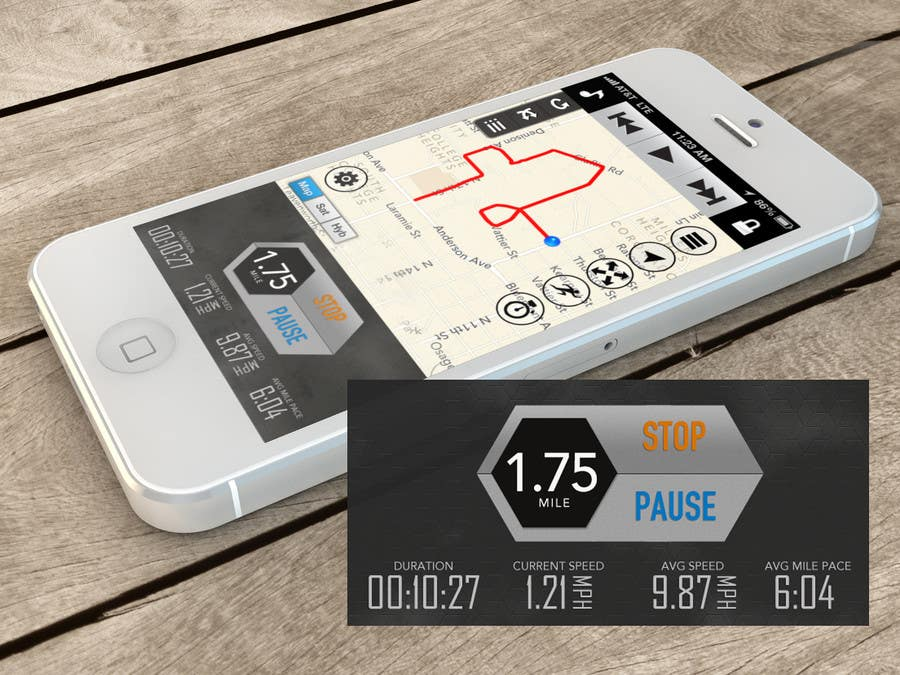 Bài tham dự cuộc thi #                                        40                                      cho                                         Need photshop expert to re-design part of user interface (Running App)