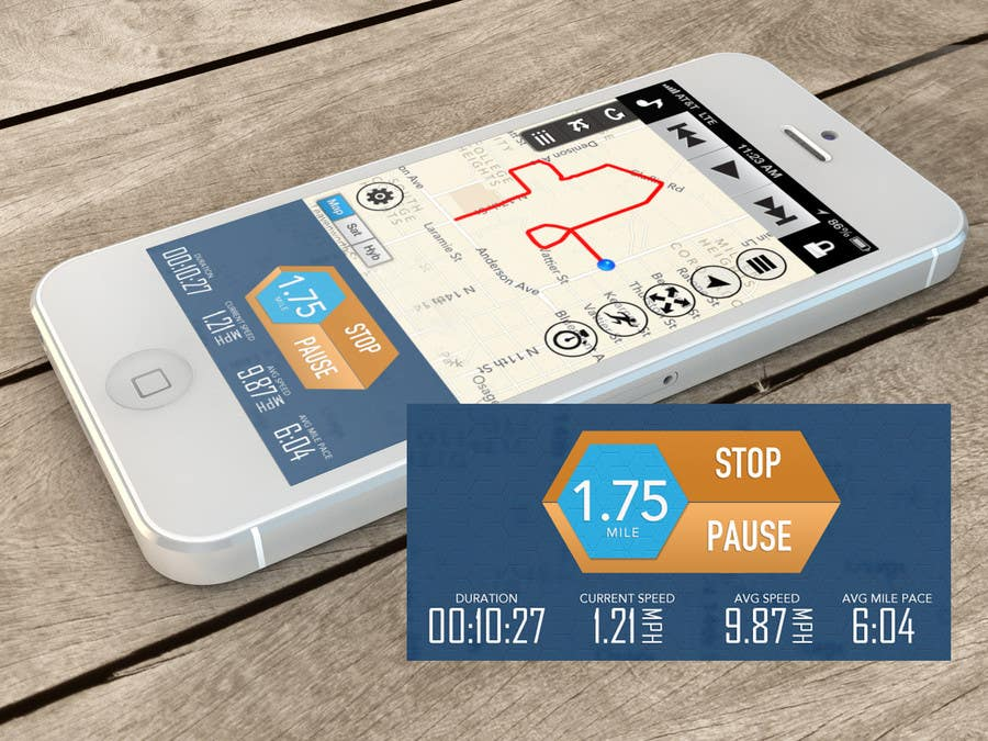Bài tham dự cuộc thi #                                        41                                      cho                                         Need photshop expert to re-design part of user interface (Running App)