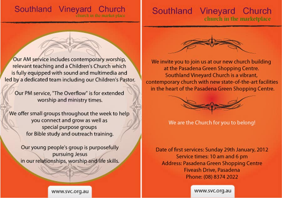 Contest Entry #56 for Flyer Design for Southland Vineyard Church
