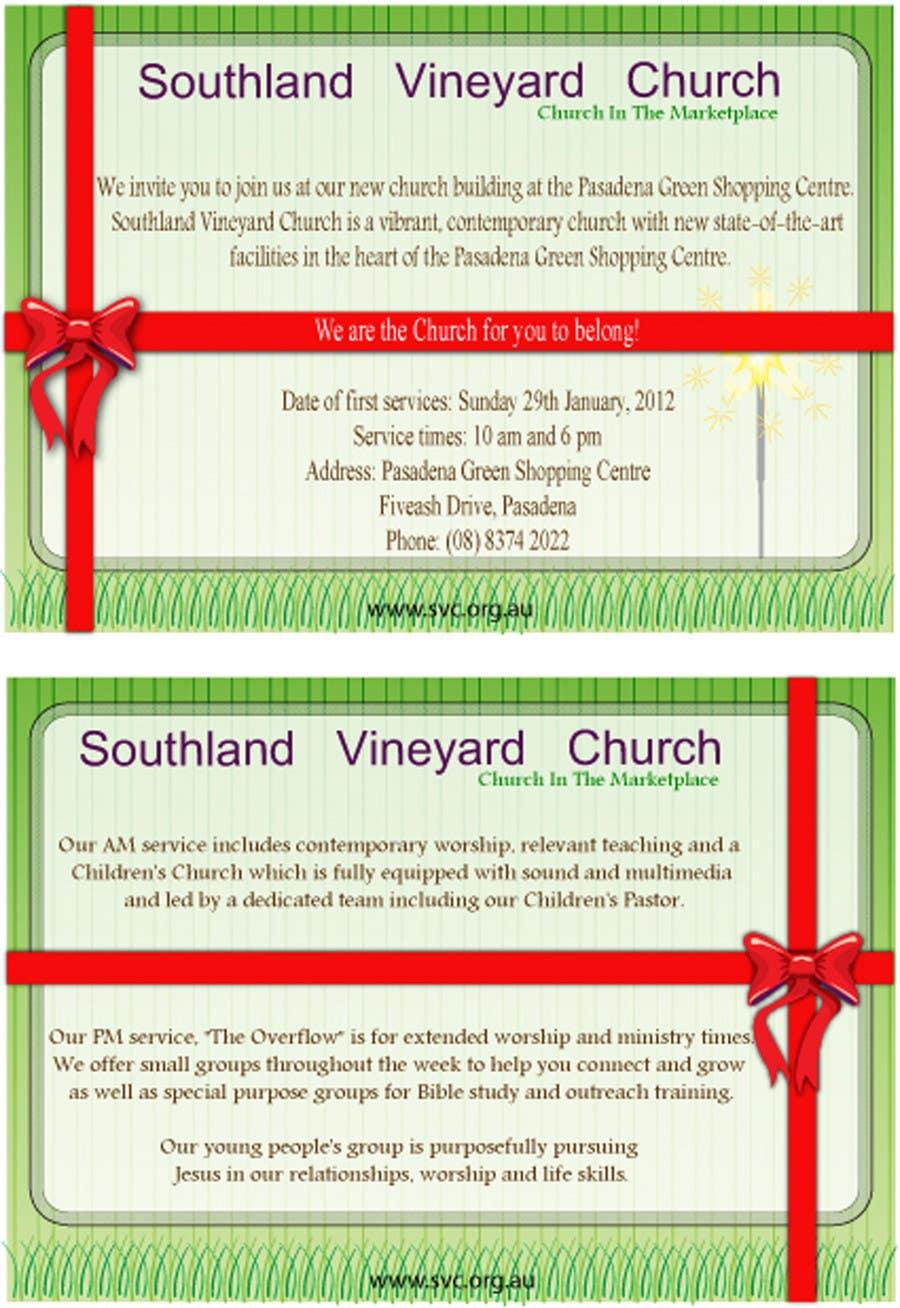Inscrição nº                                         57                                      do Concurso para                                         Flyer Design for Southland Vineyard Church