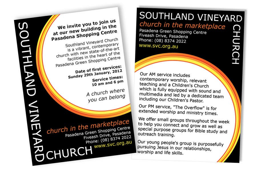 Participación en el concurso Nro.37 para Flyer Design for Southland Vineyard Church