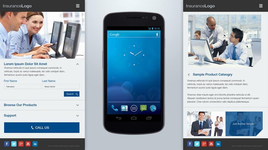 Bài tham dự cuộc thi #                                        5                                      cho                                         Design a Mobile Website Mockup for a multinational insurance company