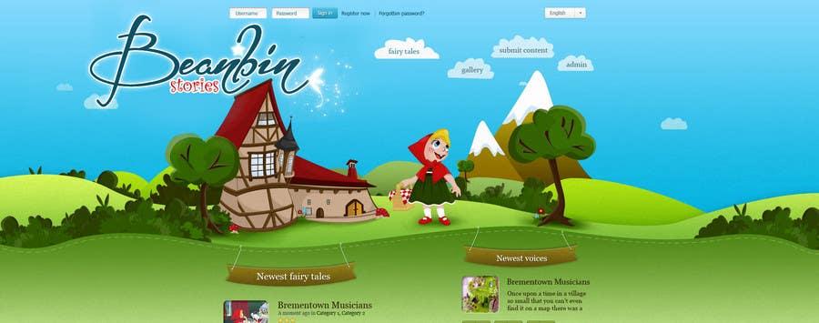 Конкурсная заявка №                                        63                                      для                                         Fairy tales Graphic Design for beanbin