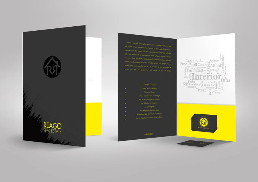 Real estate one presentation folders | realty cards printing.