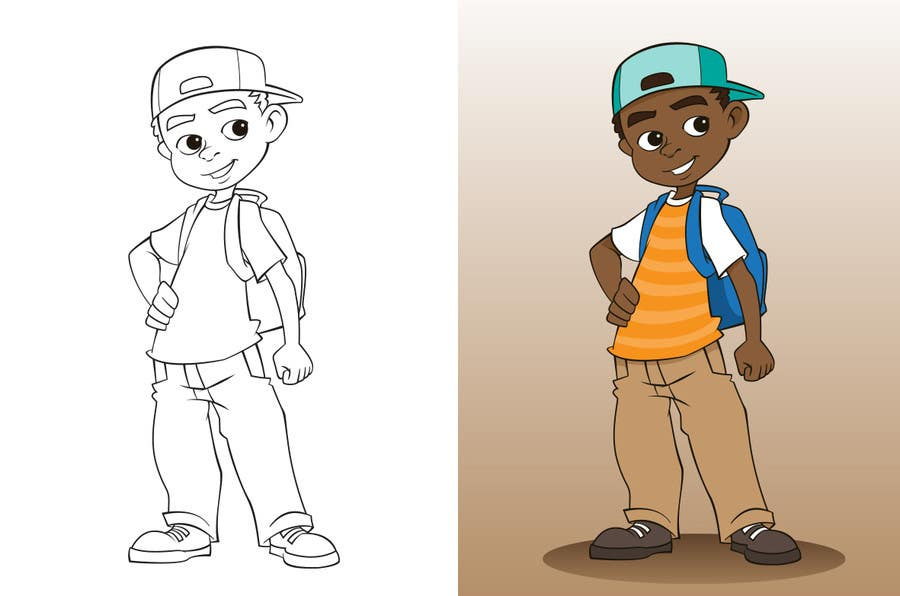 Entry 9 By Lucjaya For Cartoon Character Illustration Of Pre Teen Boy Freelancer
