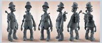 """Design Steam Punk Automatons  """"Walker"""" için 3D Modelling8 No.lu Yarışma Girdisi"""