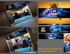 #8 para Exhibition Stand Design (technical fair) Virusbulletin por Sahir75
