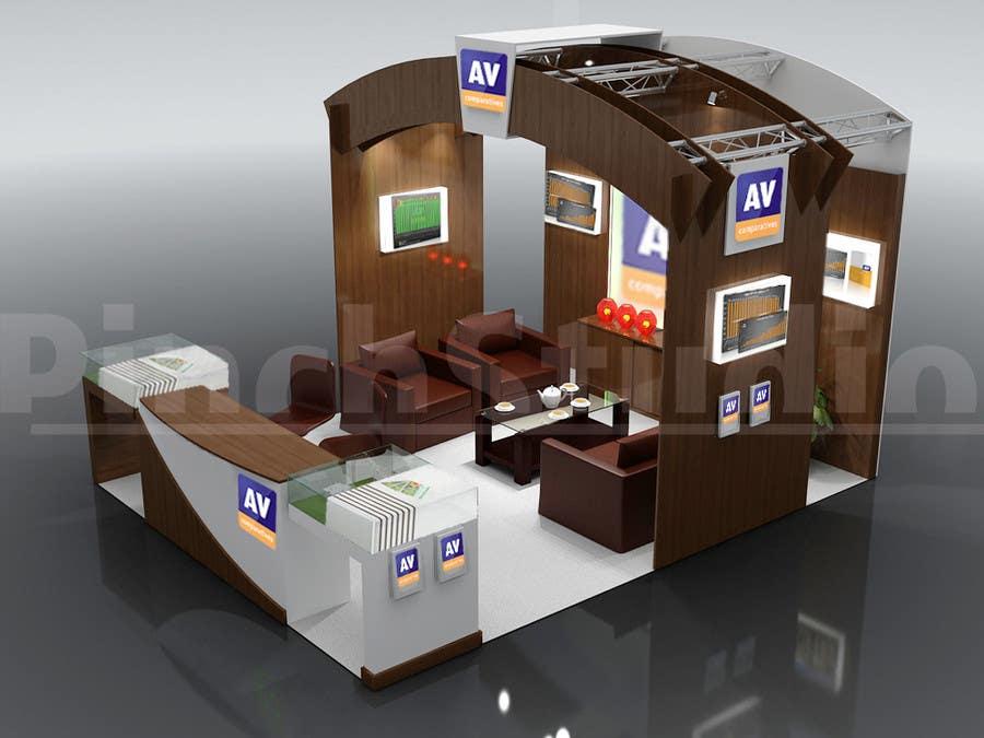 Bài tham dự cuộc thi #47 cho Exhibition Stand Design (technical fair) Virusbulletin