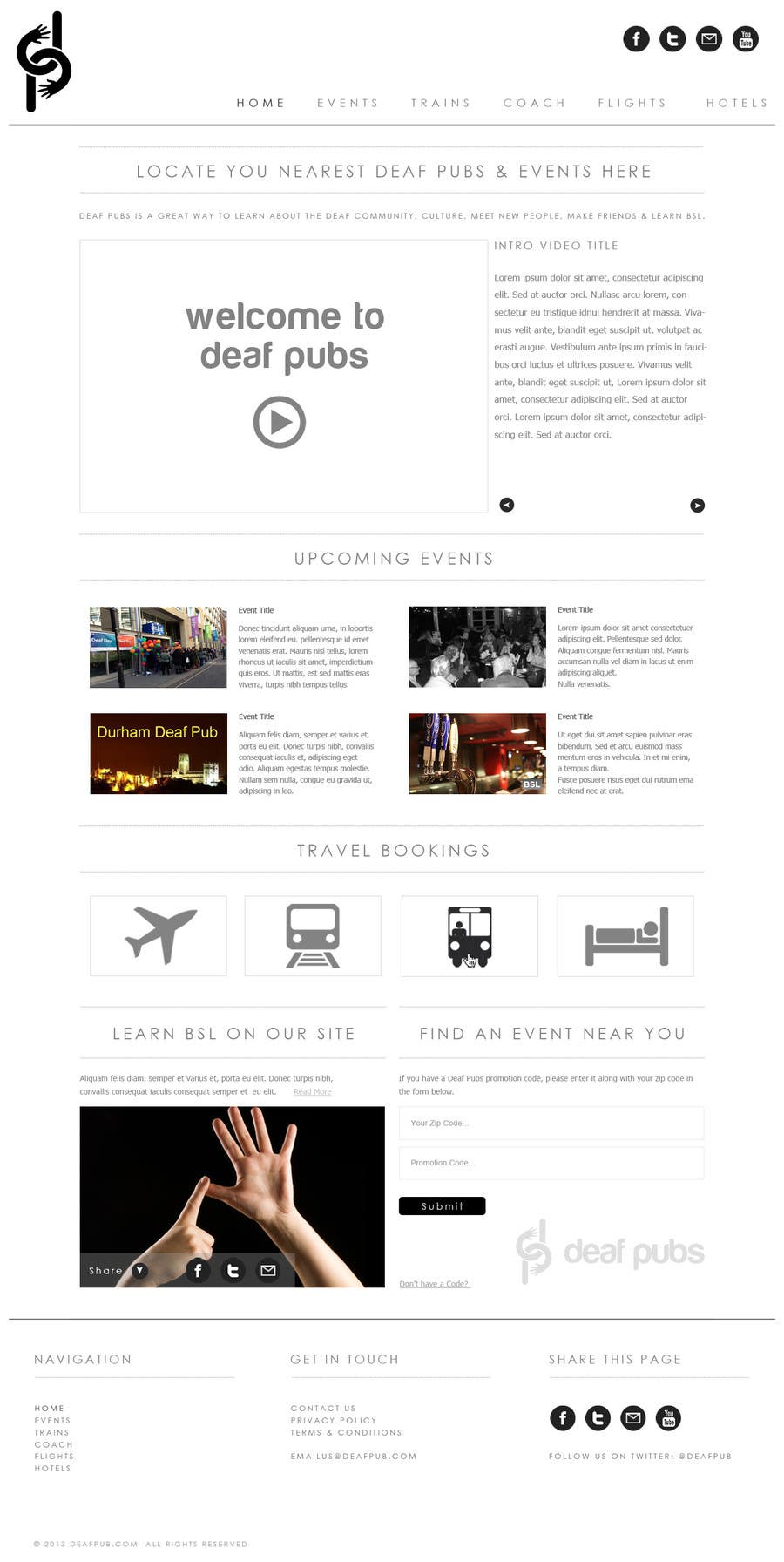 #5 for Design a Website Mockup for Deaf Pubs by JosephNgo