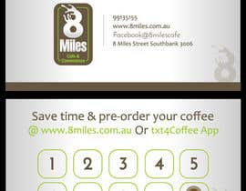 #12 for Design a Cafe Business Card & Coffee Card on back af petersamajay