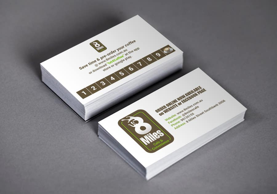 Entry 1 by samzter24 for design a cafe business card coffee card business card colourmoves