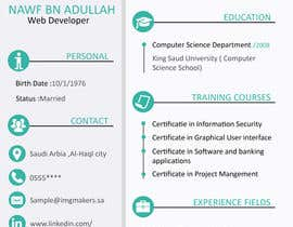 #19 para I need to buy 10 infographic CV template (6 in Arabic Languages, 4 in English) por fatmaelzhraamo