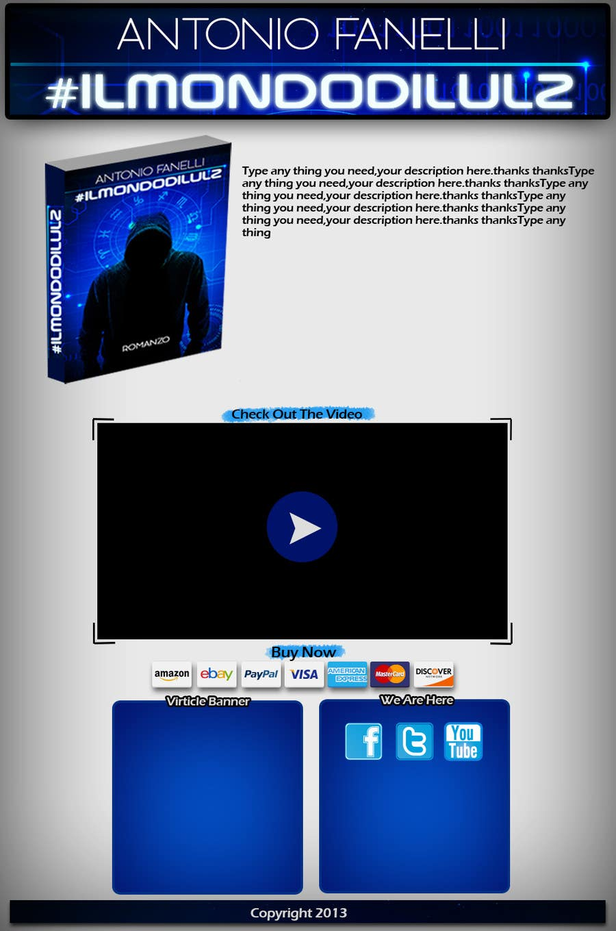 #5 for 1 Page HTML Web site for a book presentation by noeloteam