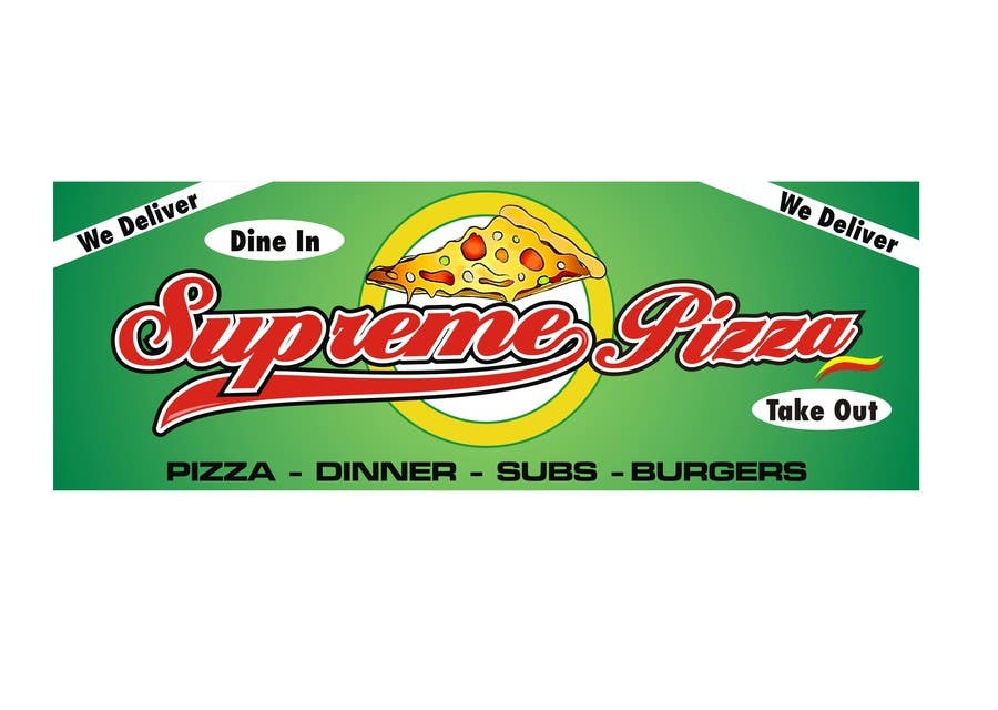 Bài tham dự cuộc thi #                                        55                                      cho                                         Design a sign for a pizzeria