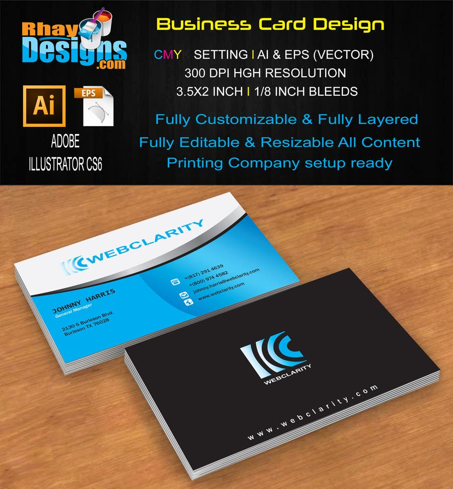 Entry #36 by rhayramos11 for Design some Business Cards for Web ...