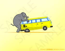 #7 for Logo Design - Elephant mounting a Kombi van by inkpotstudios