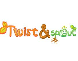 "Cozmonator tarafından Design a Logo for Online Health Food Store - Organic food  ""Twist and Sprout"" BIG bonus for awesome designs - and future WORK için no 24"