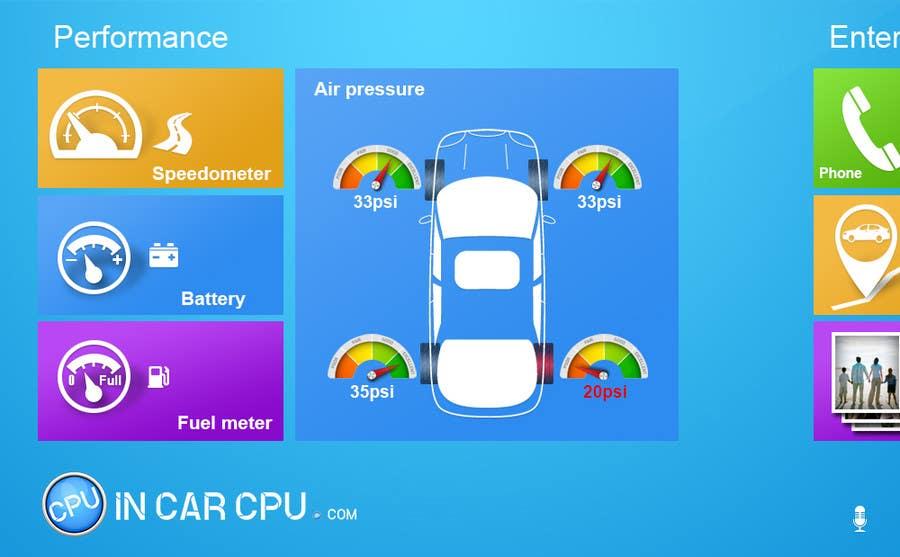 Inscrição nº 14 do Concurso para Design an App Mockup for Metro 8, Automotive GUI