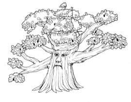 #30 para Illustrate an Oak tree with Character por wulanike