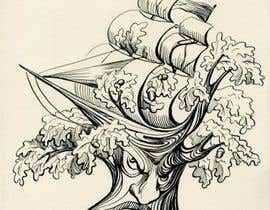 #27 para Illustrate an Oak tree with Character por lausta
