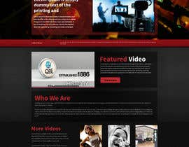 #13 para Design a Website Mockup for a film & video production company por tania06