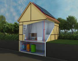 #8 for Illustration Design of solar heating for www.thomasgregersen.dk af rymo666
