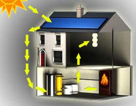 #19 cho Illustration Design of solar heating for www.thomasgregersen.dk bởi constantino1983