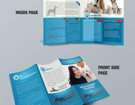 Nro 6 kilpailuun Design a Partnership Brochure for Off Leash K9 Raleigh and Pups Day Out käyttäjältä proxlservice