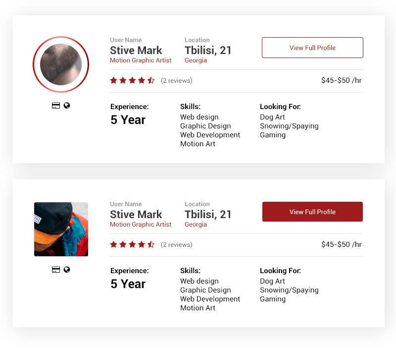 Provide Design Format For Job Profile Overview Website Mobile Resposnsive Freelancer