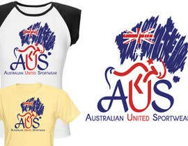 #55 para T-shirt Design for Australian United Sportswear de junaidaf