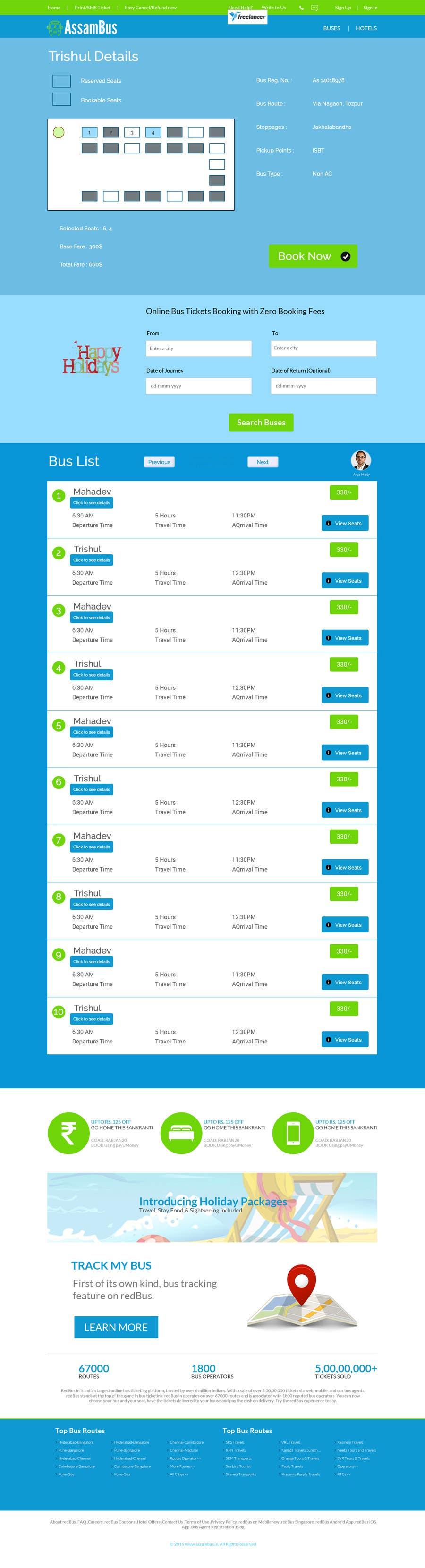 Kilpailutyö #11 kilpailussa Create a website design for a travel portal