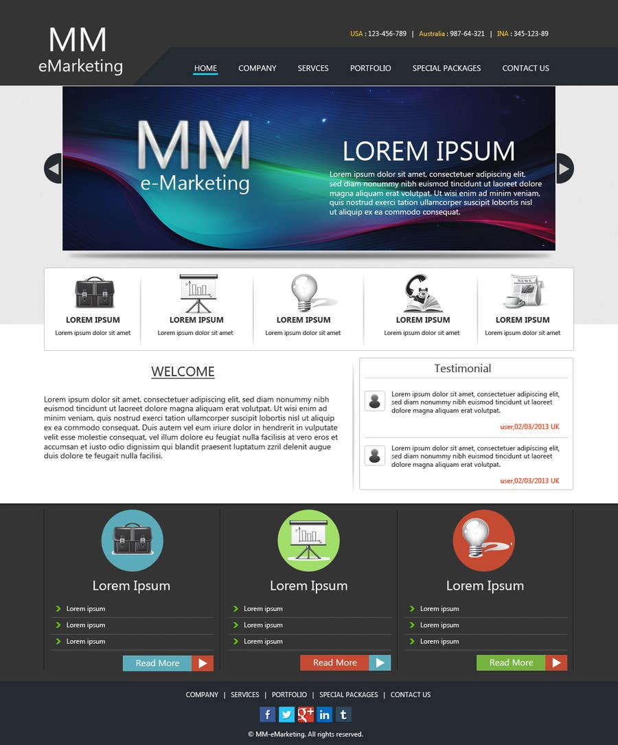 #16 for Design for a Marketing / Consulting website by riopratama