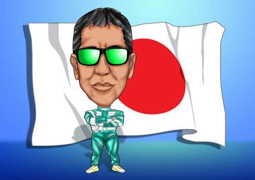 Bài tham dự cuộc thi #                                        18                                      cho                                         Caricature of a Japanese Man