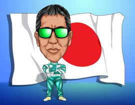 #18 para Caricature of a Japanese Man por raffyph1