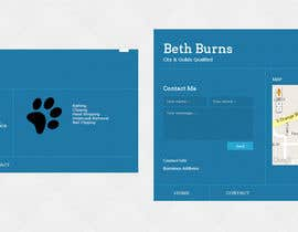 nº 2 pour Convert a two-sided business card into a single page Website par oxhey