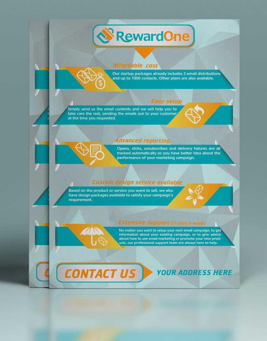 Entry #2 by gkhaus for Flyer design for email marketing