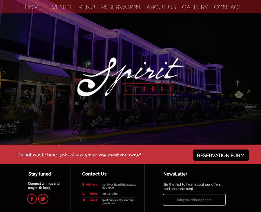 Entry #3 by ByteZappers for Design a Website Mockup for Bar/Club ...
