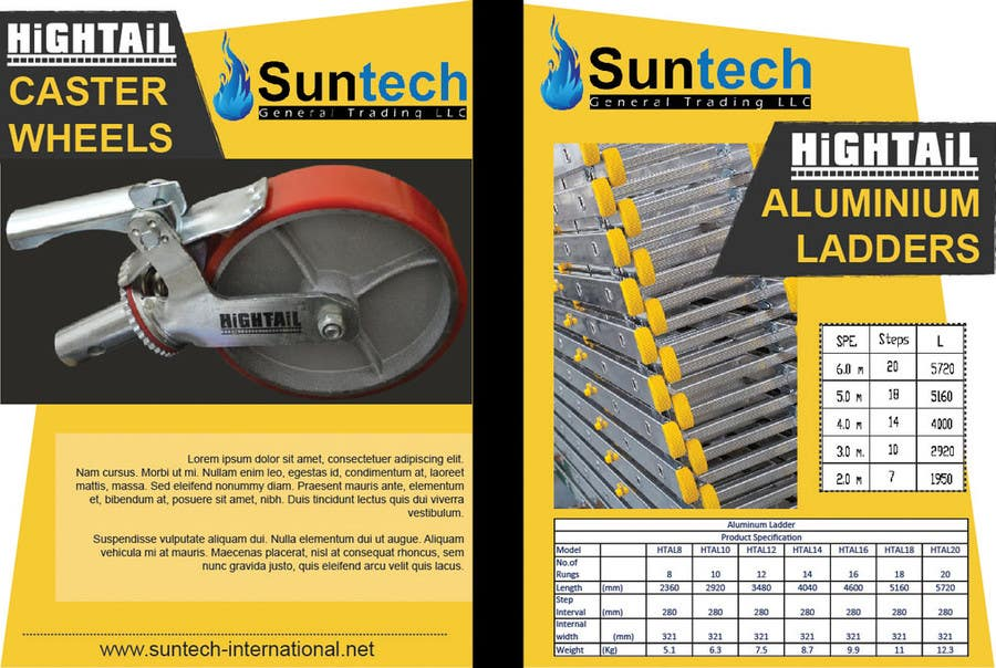 Proposition n°5 du concours Design a Two Page Brochure for HIGHTAIL Ladders & Casters