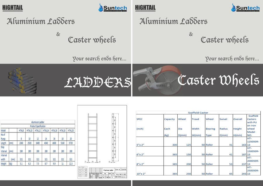 Proposition n°4 du concours Design a Two Page Brochure for HIGHTAIL Ladders & Casters